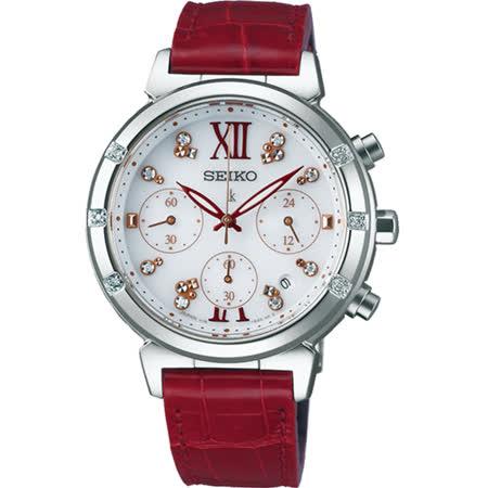 SEIKO LUKIA 20周年限量太陽能計時腕錶 V175-0DF0R SSC870J1