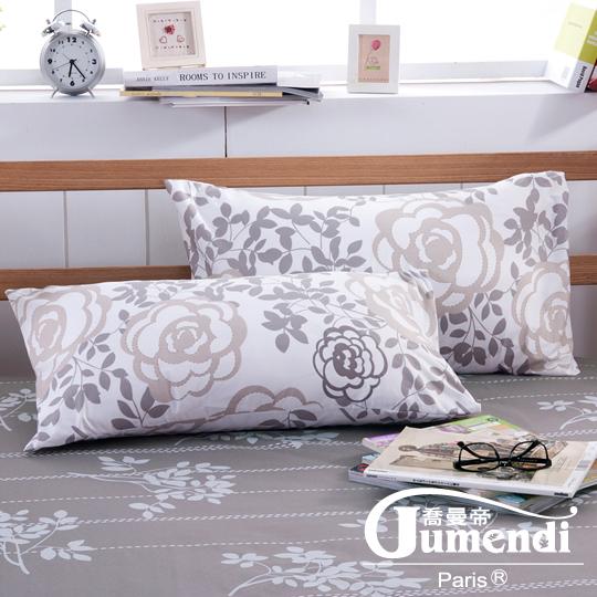 【法國Jumendi-玫瑰序曲】台灣製活性柔絲絨枕套-2入