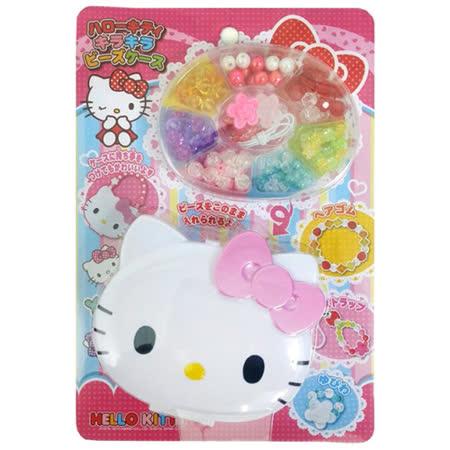 任選【BabyTiger虎兒寶】三麗鷗 HELLO KITTY 造型串珠組 (附收納盒)