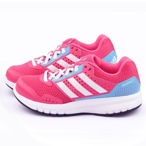 Adidas 大童 透氣避震 跑鞋S83317~桃