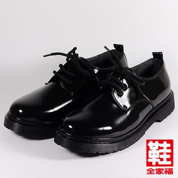 (男) SARTORI 綁帶學生鞋 黑  鞋全家福