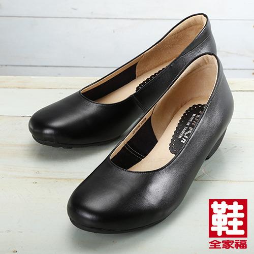 (女) Rin Rin 牛皮素面鞋 黑  鞋全家福