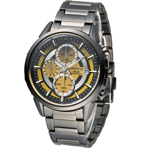 ALBA WIRED 耶誕 無限太陽能計時腕錶 V176~0AK0SD AY9007X1