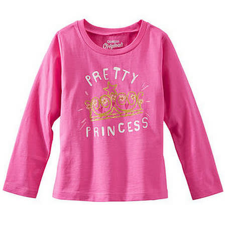 Carter's/OshKosh B'gosh 美國童裝 公主皇冠 純棉T恤 長袖 粉紅色 12M  24M OK0004