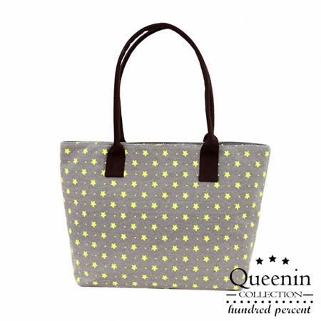 DF Queenin - 甜心女孩帆布款專屬購物包-灰色