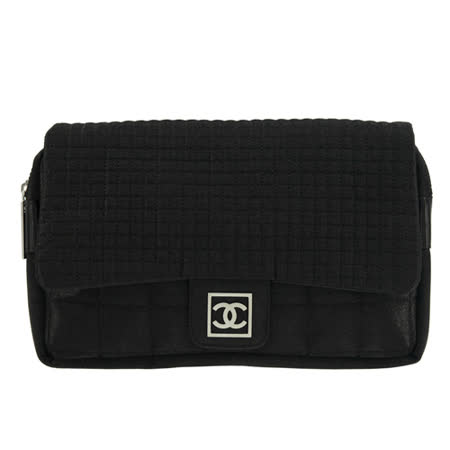 CHANEL 絲綢材質後背包(黑)