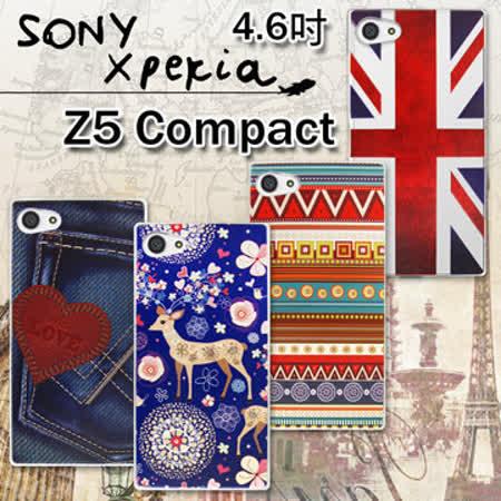 VXTRA  Sony Xperia Z5 Compact 4.6吋 Z5mini E5823 率性風格 彩繪軟式保護殼 手機殼
