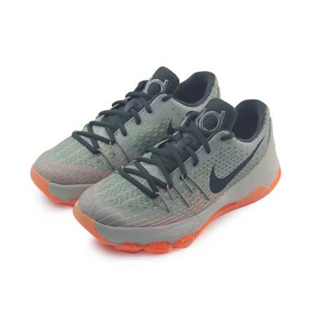 (大童)NIKE KD 8 BG 籃球鞋 灰/軍綠/橘-768867033