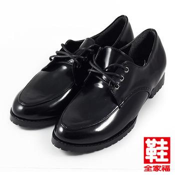 (女) 小尖頭綁帶學生鞋 黑 鞋全家福