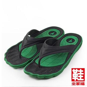 (男) DIADORA 夾腳運動拖鞋 黑綠 迪亞多那 鞋全家福