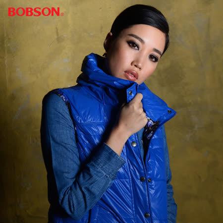 【BOBSON】天生歌姬A-Lin代言_女款絲棉背心(藍54)