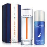 NAUTICA LIFE ENERGY航海探險男性淡香水(100ml)-送品牌體香噴霧