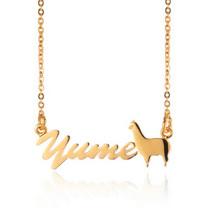 【YUME】超迷你羊駝英文名字項鍊