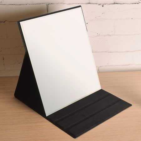 【凱堡】格紋化妝鏡/摺疊鏡/桌鏡(大型31x26)