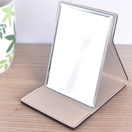 【凱堡】格紋化妝鏡/摺疊鏡/桌鏡(小型10x7)
