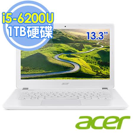 Acer V3-372-55KU i5-6200U 13.3吋 1TB大容量 FHD時尚筆電–送acer保溫杯+acer無線滑鼠