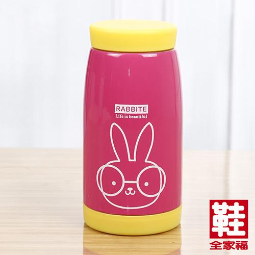 可愛兔子不 袗 保溫杯 粉紅 260ml 鞋全家福