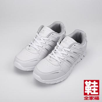 (男) ARRIBA COMBAT綁帶運動鞋 白 鞋全家福