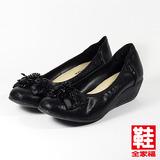 (女) RinRin 串珠蝴蝶結船型鞋 黑 鞋全家福