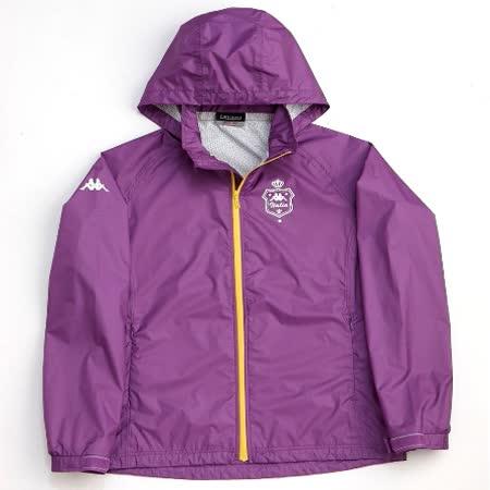 Kappa LADIES'輕量防水透濕外套(隱藏帽)防風/防水/透濕