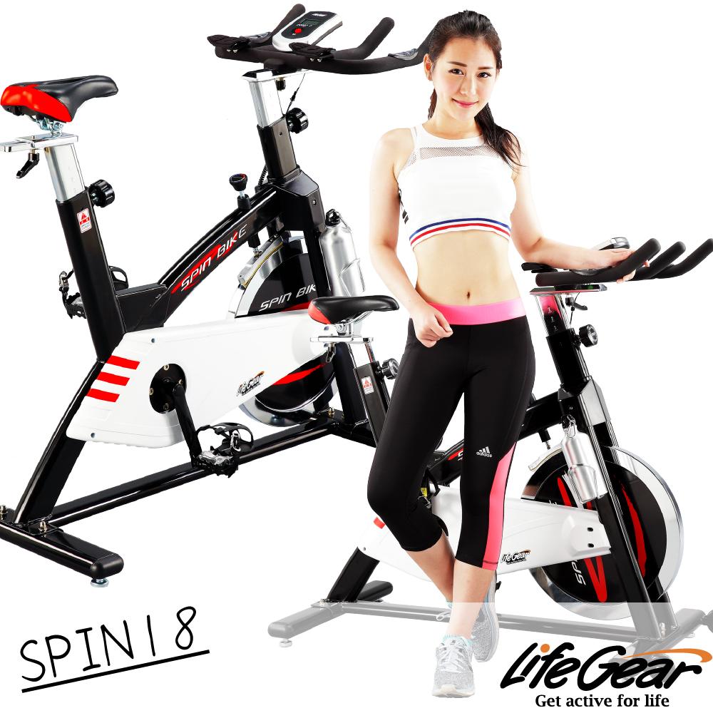 【來福忠孝 復興 sogo嘉 LifeGear】27878 SPIN18前驅飛輪健身車(高CP靜音型)