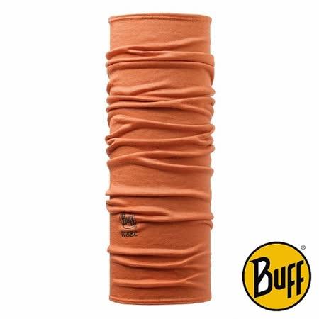 BUFF 暗橙素面 美麗諾羊毛頭巾
