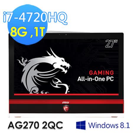 msi微星 AG270 2QC-206TW 27吋 i7-4720HQ GTX970 電競AIO電腦