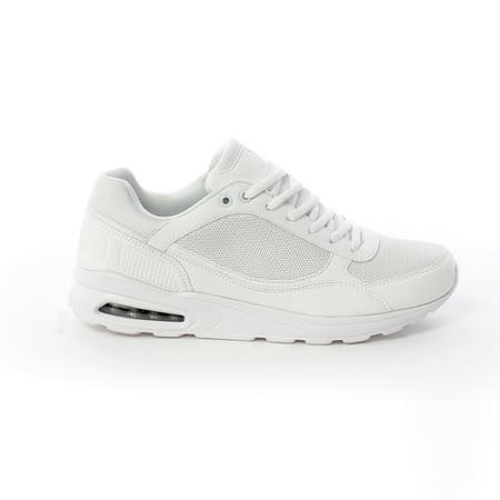 AIRWALK(男) - 舒適透氣縷空AIR休閒慢跑運動鞋 -白(品特)