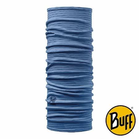BUFF 藍紋 美麗諾羊毛織色頭巾