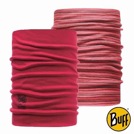BUFF 潤紅 美麗諾羊毛雙面保暖領巾