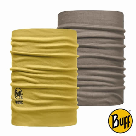BUFF 黏土黃褐 美麗諾羊毛雙面保暖領巾