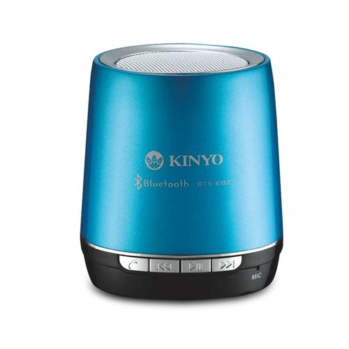 【KINYO】藍色音潮-藍牙讀卡隨身音箱/喇叭