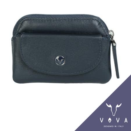 VOVA 高第系列水波紋拉鍊零錢包(墨藍)VA105W014NY