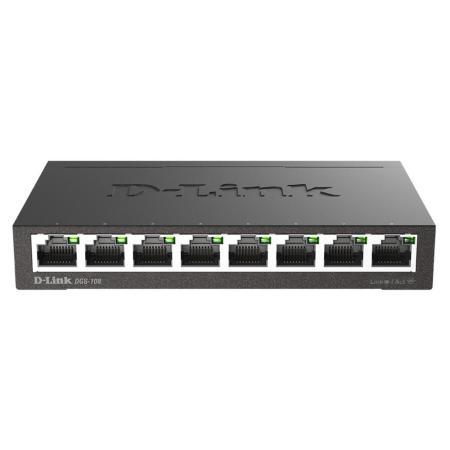 D-Link 友訊 DGS-108 企業網路無網管型網路交換器