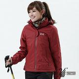 【遊遍天下】Globetex女款JIS90%羽絨防風防水貼條機能羽絨外套A001磚紅