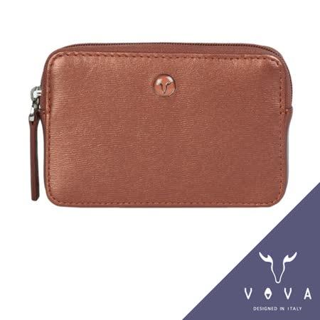 VOVA 高第系列水波紋拉鍊零錢包(珠光粉紅)VA105W013RD