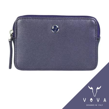 VOVA 高第系列水波紋拉鍊零錢包(珠光紫)VA105W013VIO