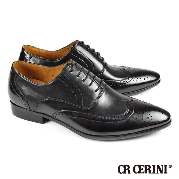 ~CR CERINI~ 紳士翼紋雕花牛津鞋 黑色 79591~BL