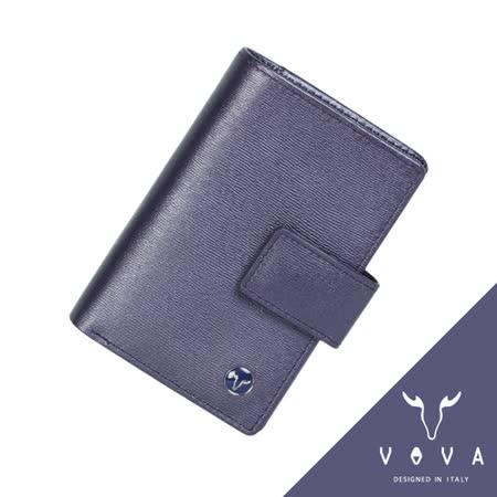 VOVA 高第系列4卡水波紋舌片名片夾(珠光紫)VA105W027VIO