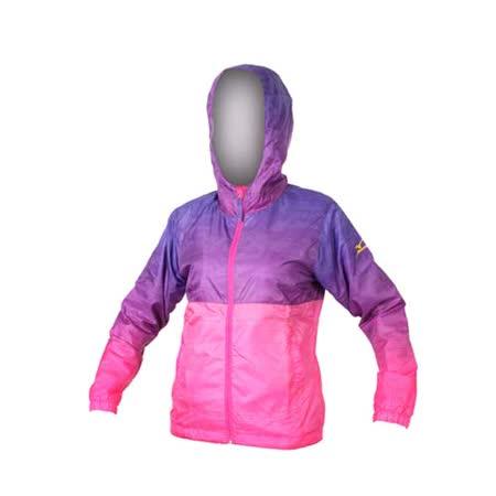 (女) MIZUNO 半長風衣- 防風 連帽外套 美津濃 紫桃紅