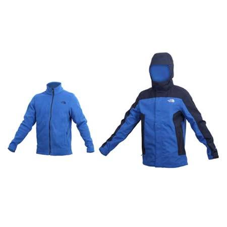 (男) THE NORTH FACE  HV刷毛兩件式外套-登山 保暖 防風  藍丈青