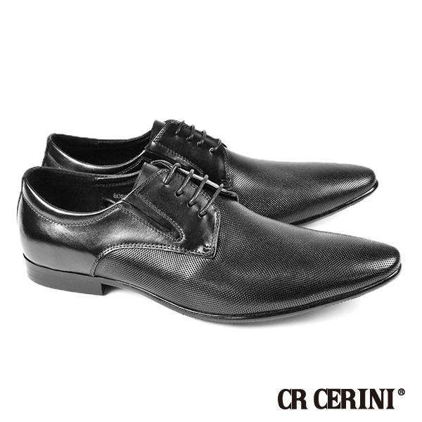 ~CR CERINI~ 網紋德比紳士皮鞋 黑色^(80821~BL^)