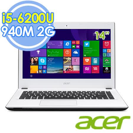 Acer E5-474G-570Y 14吋 i5-6200U 雙核 2G獨顯 FHD Win10 筆電–送acer無線鼠+Targus後背包