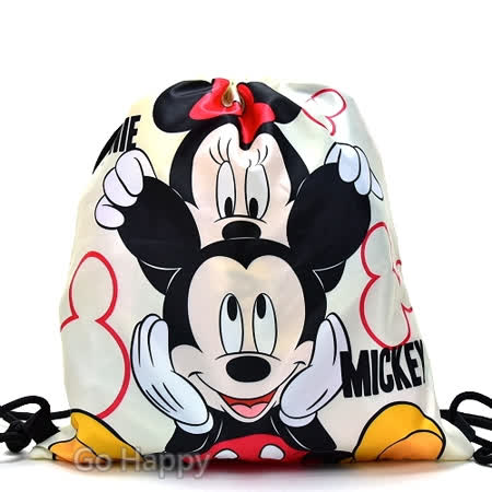 Disney【俏皮米妮與米奇】束口後背包