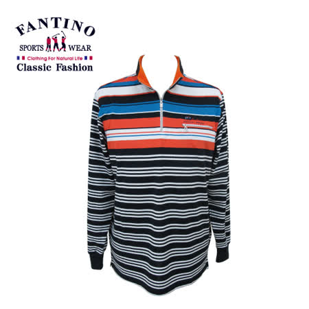 【FANTINO】 男裝 亮彩玩色線條休閒polo衫 541331
