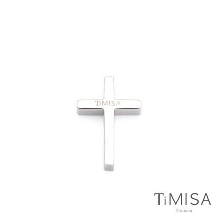 【TiMISA】簡約十字 純鈦墜飾(S)