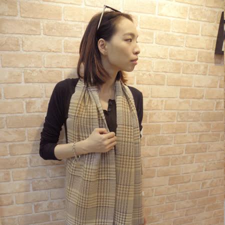 【Lus.G】韓風女伶千鳥紋窄版圍巾-共2色
