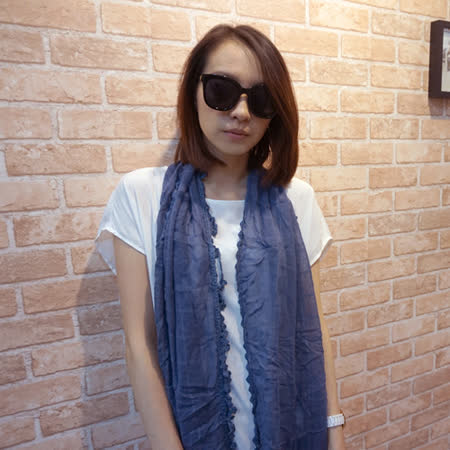 【Lus.G】森林系少女流蘇麻紗圍巾-共5色
