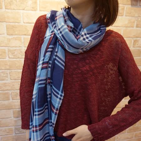 【Lus.G】經典雙色斜直紋圍巾-共6色