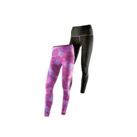 (女) MIZUNO BG9000 緊身長褲-可雙面穿- 慢跑 路跑 抗UV 紫紅